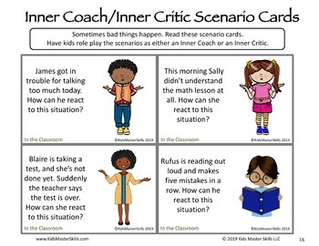 Inner Coach or Inner Critic: Positive Self-Talk Activities and Scenario Cards