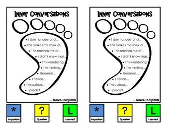 Inner Conversation Cards - Comprehension Toolkit - Footprints
