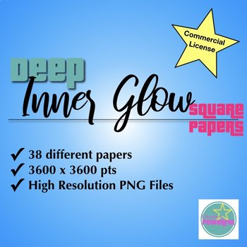 Inner Glow Deep Square Papers for Commercial Use
