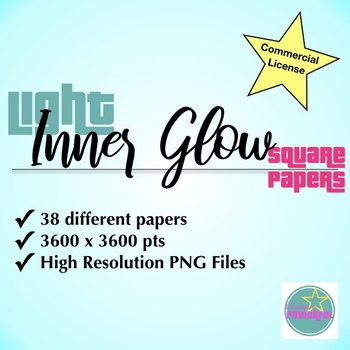 Inner Glow Light Square Papers for Commercial Use
