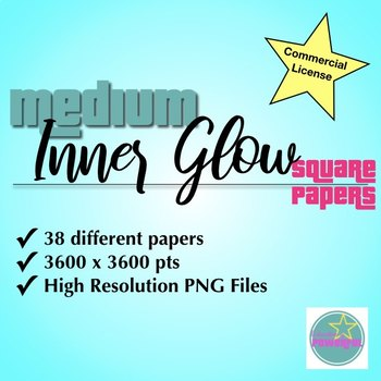 Inner Glow Medium Square Papers for Commercial Use