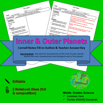 Inner & Outer Planets Cornell Notes #18