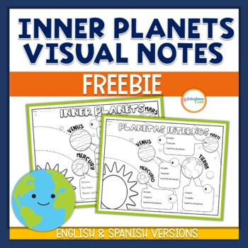 Inner Planets Doodle notes English & Spanish Versions