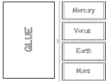 Inner Planets Foldable (Interactive Notebook)