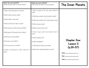Inner Planets (Houghton Mifflin 4th Grade Science Chapter 1 Lesson 4)
