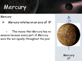 Astronomy - Inner Planets (Terrestrial Planets) w/worksheet (SMART BOARD)