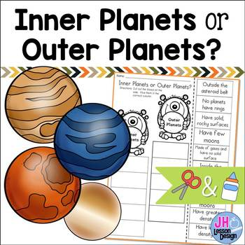 Inner Planets or Outer Planets Cut and Paste Sorting Activity