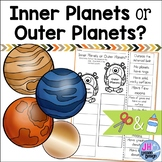 Inner Planets and Outer Planets: Cut and Paste Sorting Activity