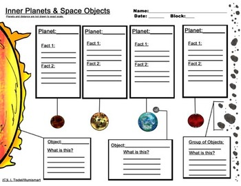 Inner and Outer Planet Worksheets...Bonus: 4 Piece Clip-Art Included!