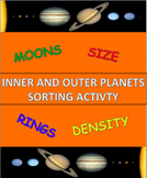 Inner and Outer Planets Sorting Activity