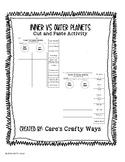 Inner or Outer Planet? Cut & Paste Worksheet