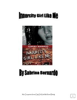 Innercity Girl Like Novel Study by Sabrina Bernardo