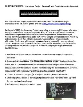 DNA Fingerprinting - Innocence Project Web Exploration & R