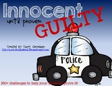 Innocent Until Proven Guilty: Math Challenges for Early Finishers