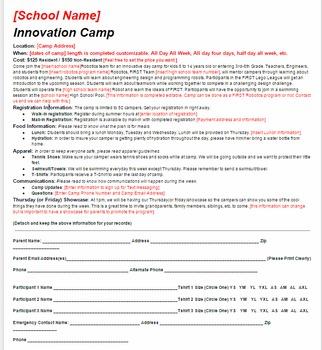 Innovation Camp Flyer