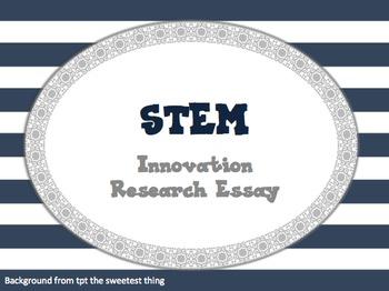 Innovation Essay Contest