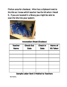 Innovation Kits for Checkout - Media Center - Library- Makerspace - Tinker - Eng