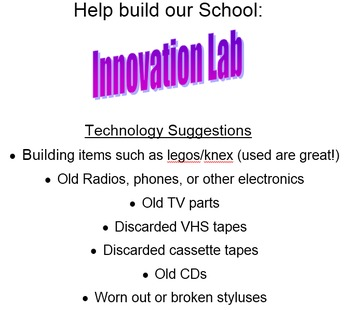 Innovation / Makerspace / FabLab / Tinkering Table