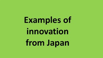 Innovation from Japan