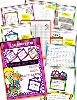 Innovative Mathematics Pack 1 – Multiplication, Division and Square