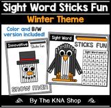 Sight Word Sticks Fun - Winter Theme