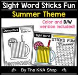 Sight Word Sticks Fun - Summer Theme