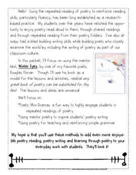 Innovative Ways to Reread Poetry for Fluency, Write Poetry, and Teach Grammar!