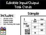 Input-Output Chart What's My Rule Task Cards