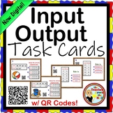 Input / Output Charts Task Cards - 24 Cards w/ QR Codes