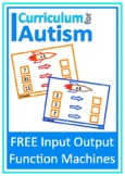 Input Output Function Machines Pre Algebra Autism Special Education