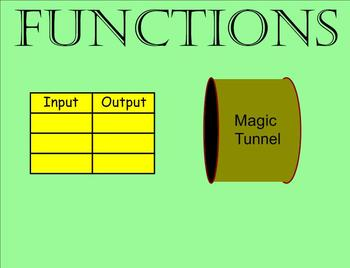Input Output Function Tables - Smartboard Lesson