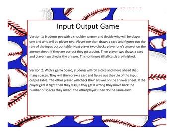 Input Output Game