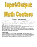 Input Output Math Centers Activities