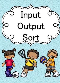 Input Output Sorting Math Game