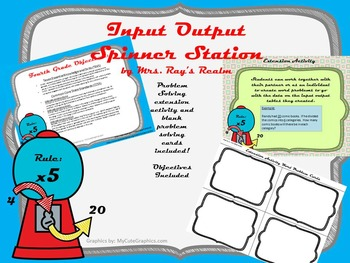 Math Input Output Table Spinner Learning Station