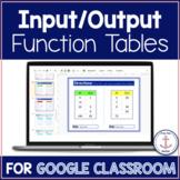 Input Output Table Activities Digital Google Classroom dis