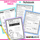 Input-Output Table Patterns Notebook 4th Grade TEKS by Marvel Math