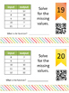 Input/Output Table Task Cards