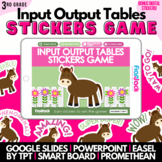 Input Output Tables Addition Subtraction SMART BOARD Game - Common Core Aligned