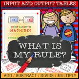 Input & Output Tables ⭐⭐⭐⭐ Whats My Rule? EDITABLE WORKSHEETS / 50-Pages!