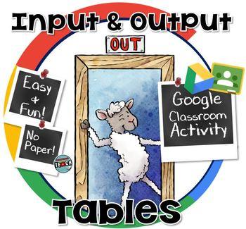Input & Output Tables ~ GOOGLE CLASSROOM