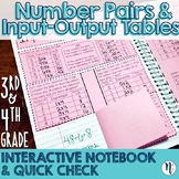 Number Pairs & Input-Output Interactive Notebook & Quick C