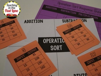 Input-Output Tables & Patterns Test Prep Math Stations