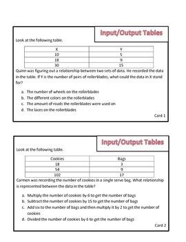 Input Output Tables Review Game: Survivor Theme