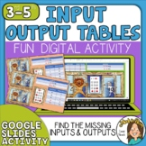 Input & Output Tables Rules and Equations Google Slides Di