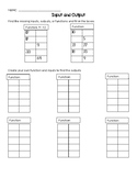Input/Output Worksheet