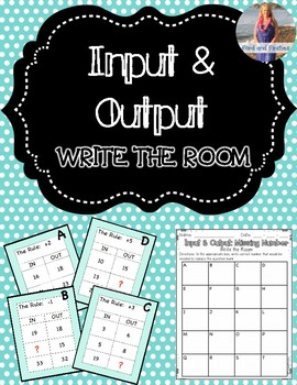 Input Output  (+/-) Write the Room!