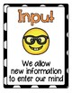 Input, Process, Output Posters and Journal Cut-Outs to Improve Student Effort