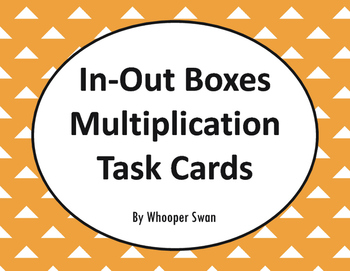 Input and Output Boxes - Multiplication Task Cards
