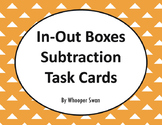 Input and Output Boxes - Subtraction Task Cards